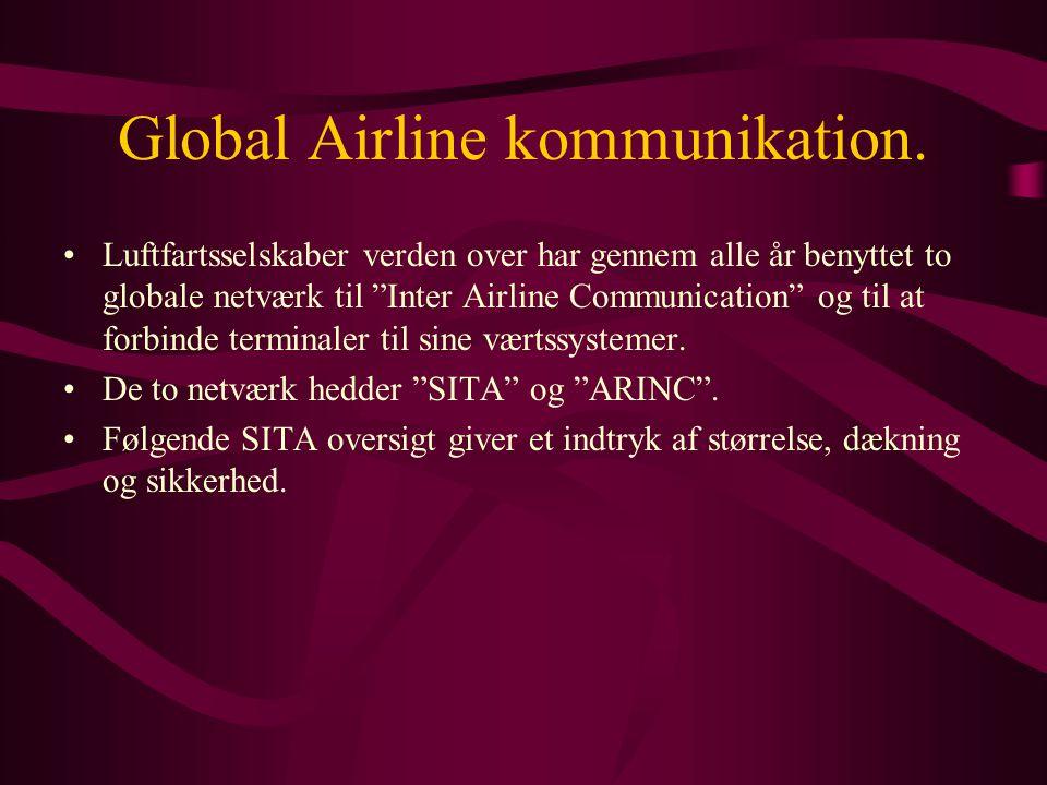 Global Airline kommunikation.