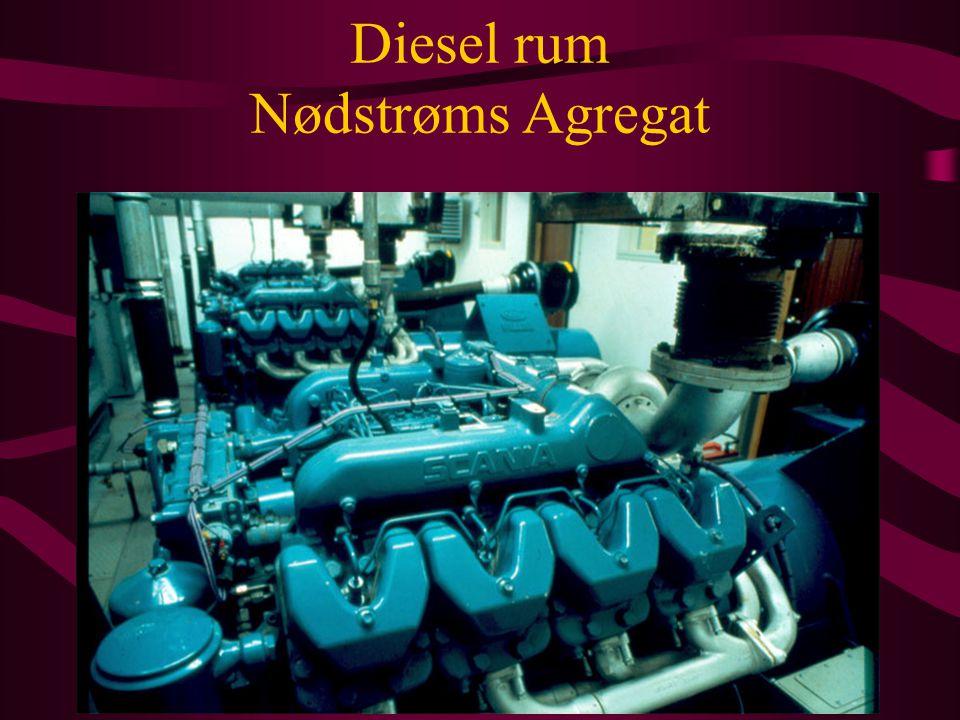Diesel rum Nødstrøms Agregat