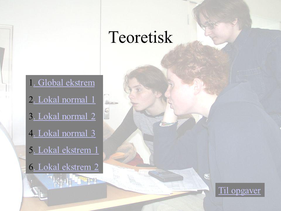 1.Global ekstrem. Global ekstrem 2. Lokal normal 1.