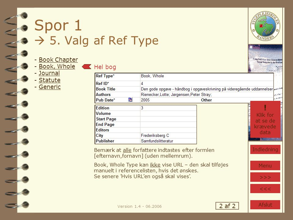 Version 1.4 - 06.2006 Spor 1  5.