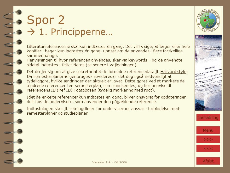 Version 1.4 - 06.2006 Spor 2  1.
