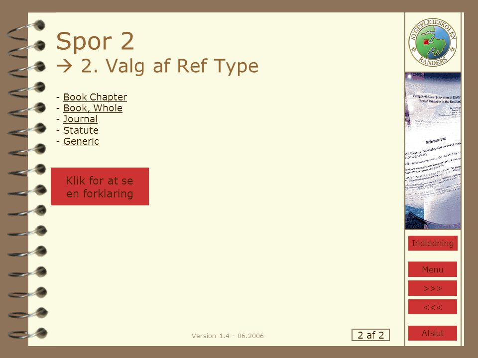 Version 1.4 - 06.2006 Spor 2  2.