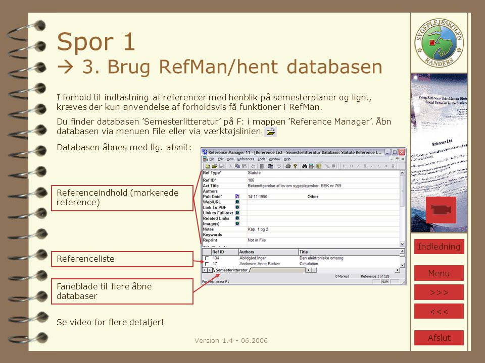 Version 1.4 - 06.2006 Spor 1  3.