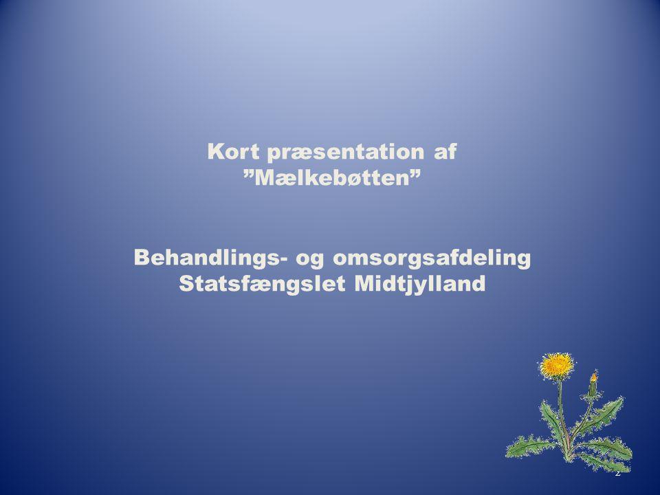 """2 Kort præsentation af """"Mælkebøtten"""" Behandlings- og omsorgsafdeling Statsfængslet Midtjylland"""
