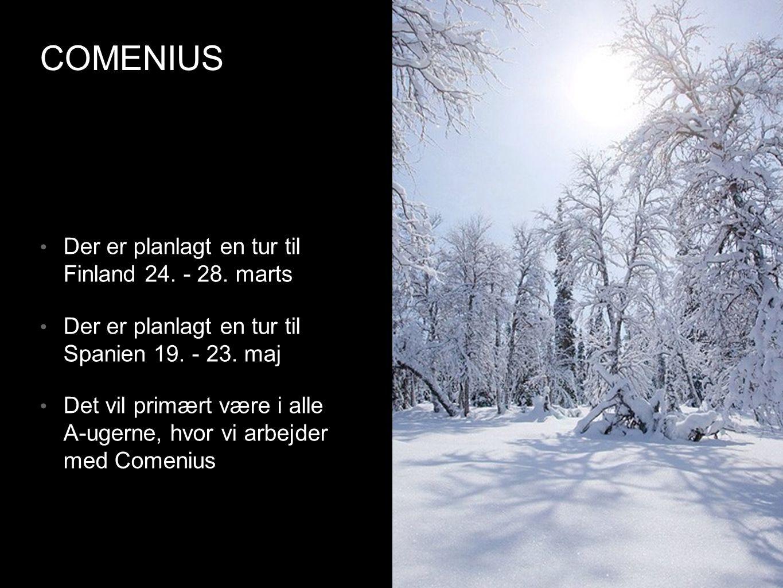 COMENIUS • Der er planlagt en tur til Finland 24. - 28.