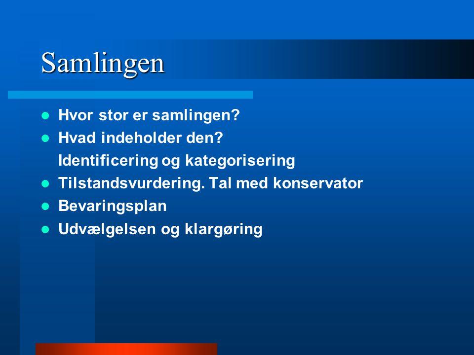 Tidshorisont  30% forarbejde  20% Udvalg af materiale til digitalisering  20% konvertering (scanning, fotografering)  10% digitalt efterarbejde (metadata)  10% kvalitetskontrol  10% Lagring (cd brænding eller overførelse til magnetiske eksterne harddrive) (Digitalisering av fotosamlinger af Hege Oulie, Norsk rapport)