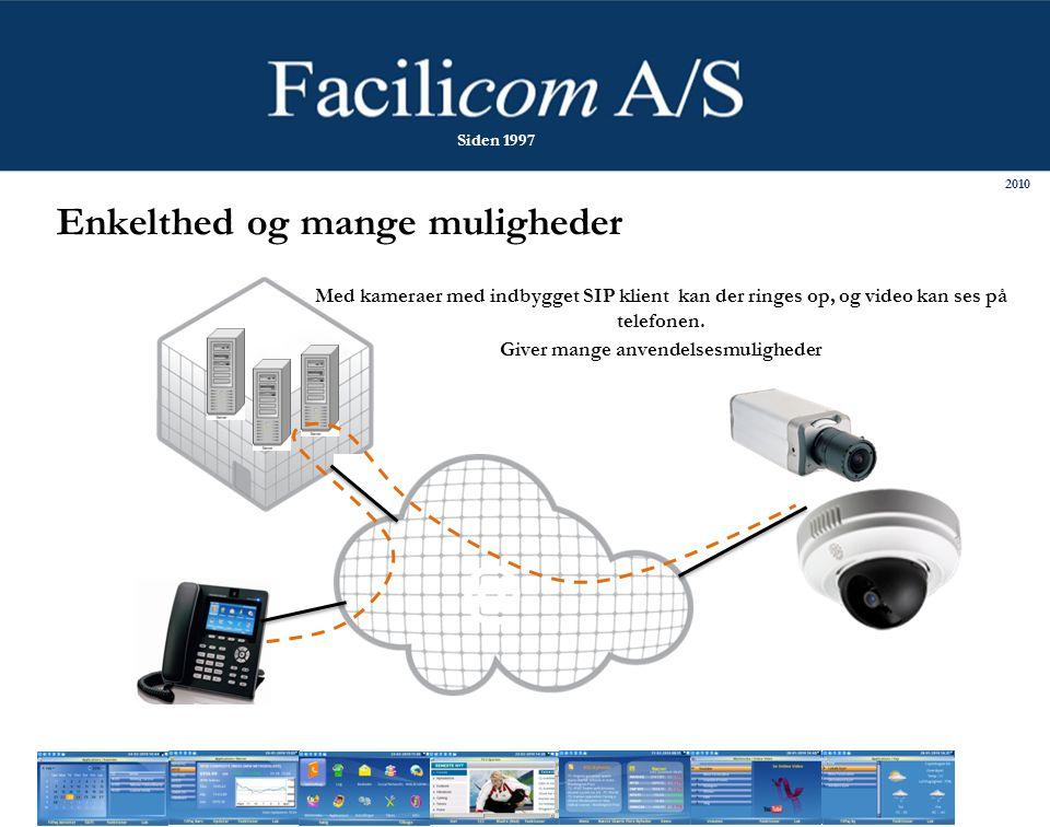 @ Med kameraer med indbygget SIP klient kan der ringes op, og video kan ses på telefonen.