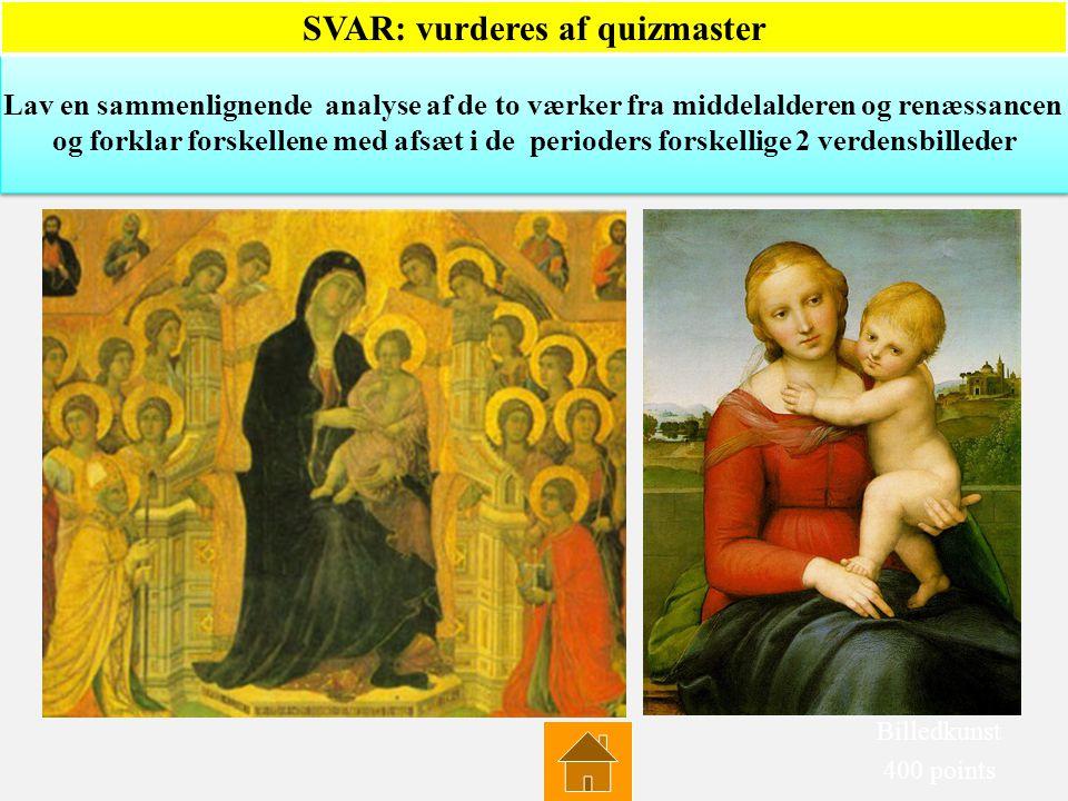 Hvordan kommer renæssancens tankegang til udtryk i dette værk? Nævn mindst 3 elementer Hvordan kommer renæssancens tankegang til udtryk i dette værk?
