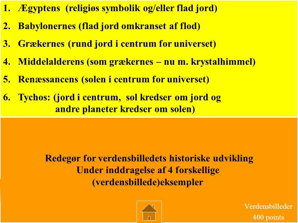 Hvad er den mest markante forskel på middelalderens og renæssancens verdensbilleder? Verdensbilleder 300 points SVAR: At centrum I middelalderens = jo