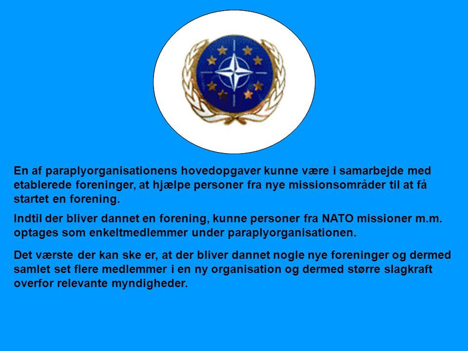 NATOOSCE EU Det værste der kan ske er, at der bliver dannet nogle nye foreninger og dermed samlet set flere medlemmer i en ny organisation og dermed s