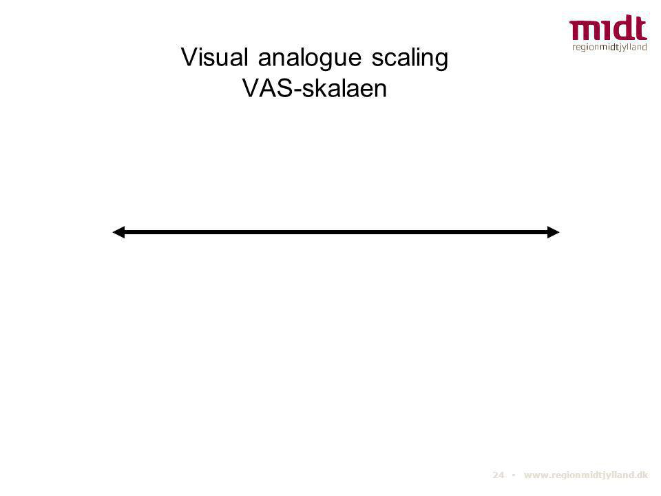 24 ▪ www.regionmidtjylland.dk Visual analogue scaling VAS-skalaen