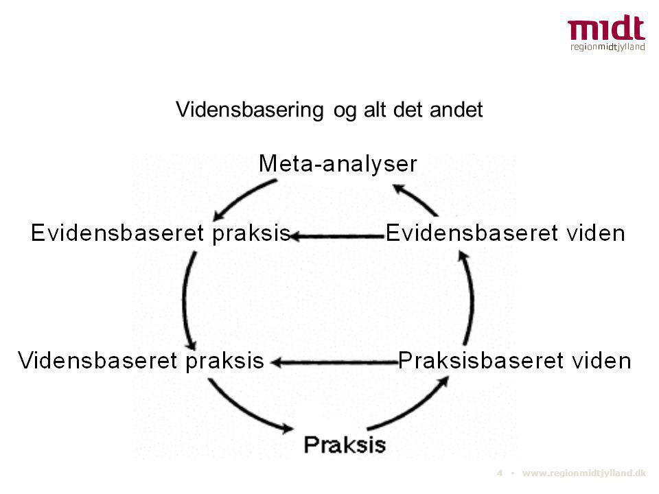 5 ▪ www.regionmidtjylland.dk Vidensbasering bliver til næring, hvis I  kan dokumentere behov, metoder og resultater til andre.