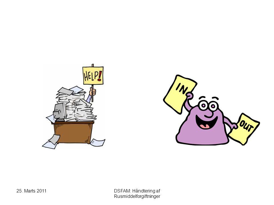 25. Marts 2011DSFAM: Håndtering af Rusmiddelforgiftninger