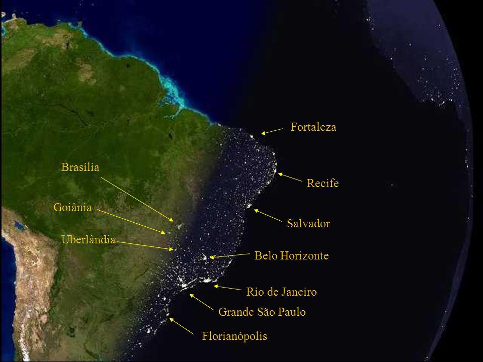 Grande São Paulo Rio de Janeiro Belo Horizonte Salvador Atlanter- Havet Den brasilianske fastlands sokkel Natten falder på I Brazilien