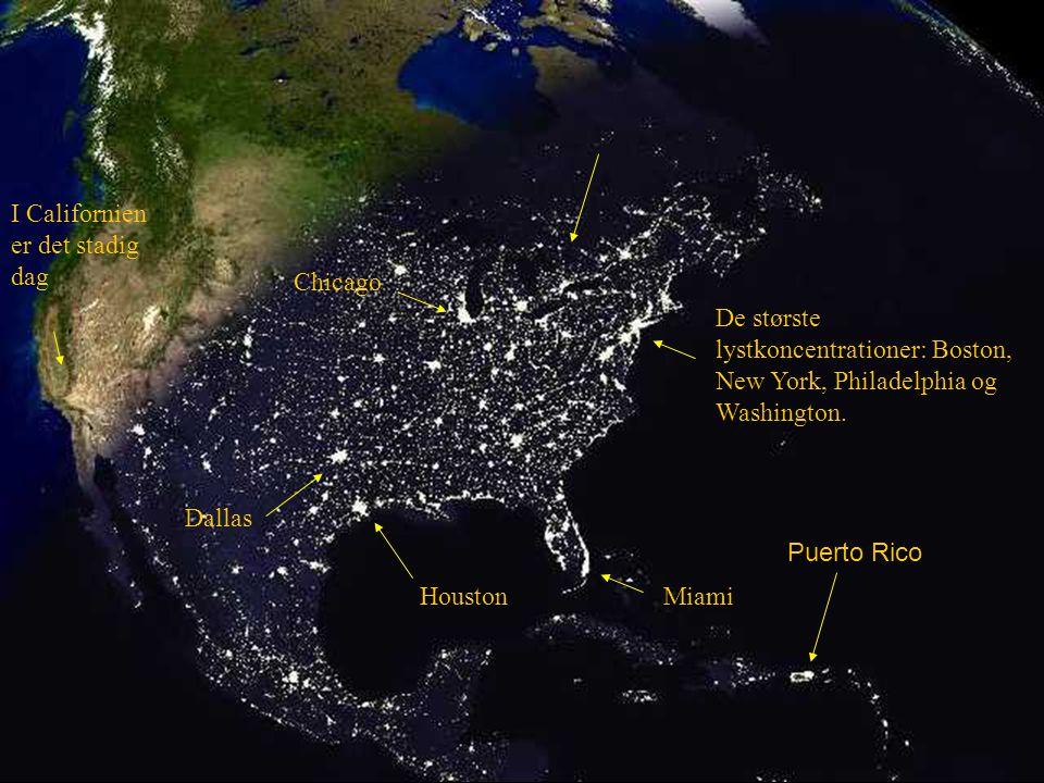 Natten falder på i USA