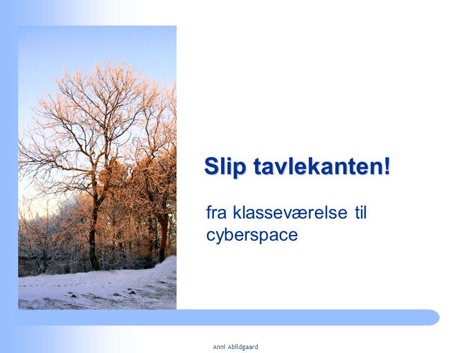 Anni Abildgaard Slip tavlekanten! fra klasseværelse til cyberspace