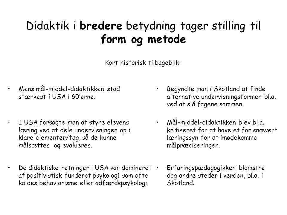 Storyline praktiseres i dag over hele verden Danmark Tyskland Australien Californien Island Holland Bahrain Hong Kong Litauen USA Skotland Didaktik i snæver betydning: formål, mål og indhold.