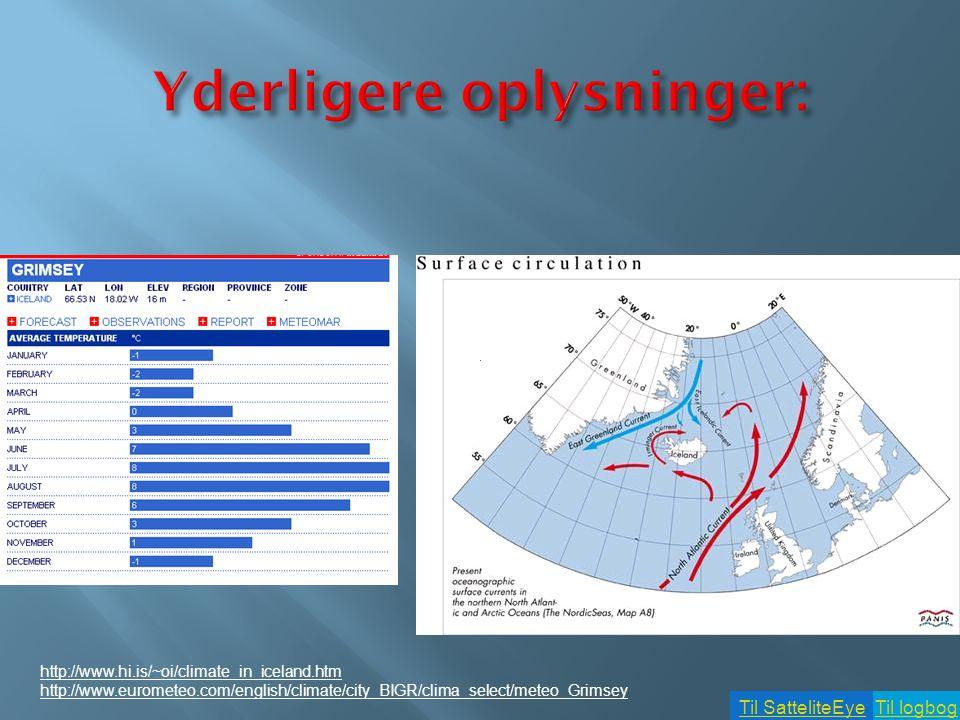 Til logbogTil SatteliteEye  Ved at benytte nedenstående link skal I beskrive årstidsvariationen i havisens udbredelse.