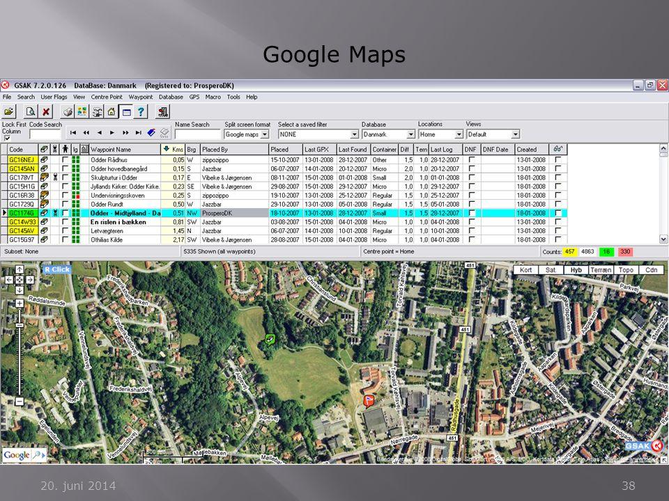 20. juni 201438 Google Maps