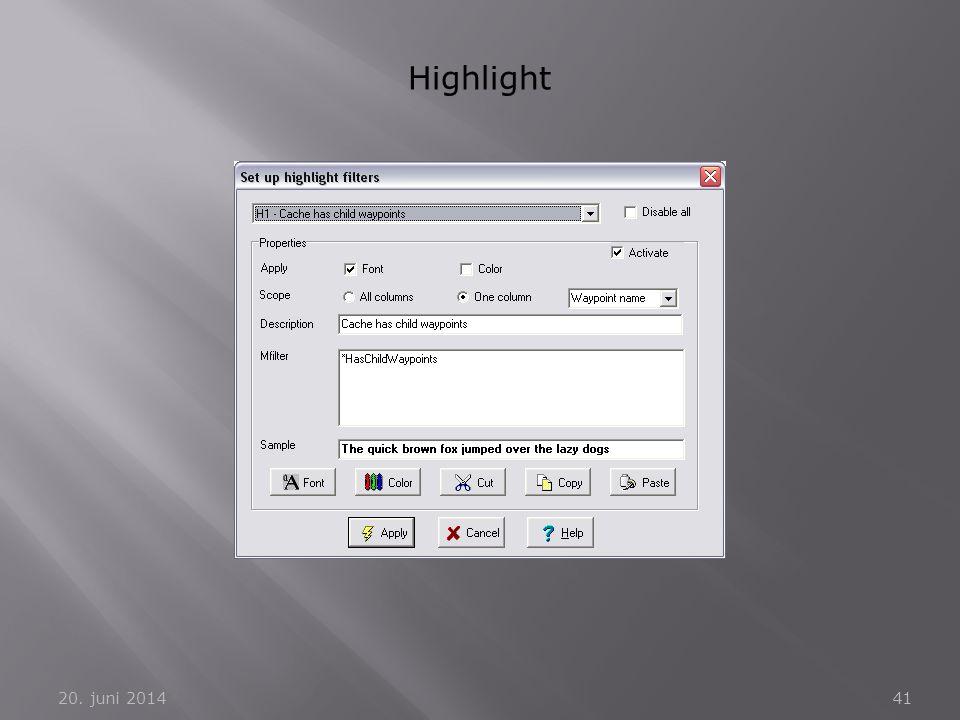 20. juni 201441 Highlight