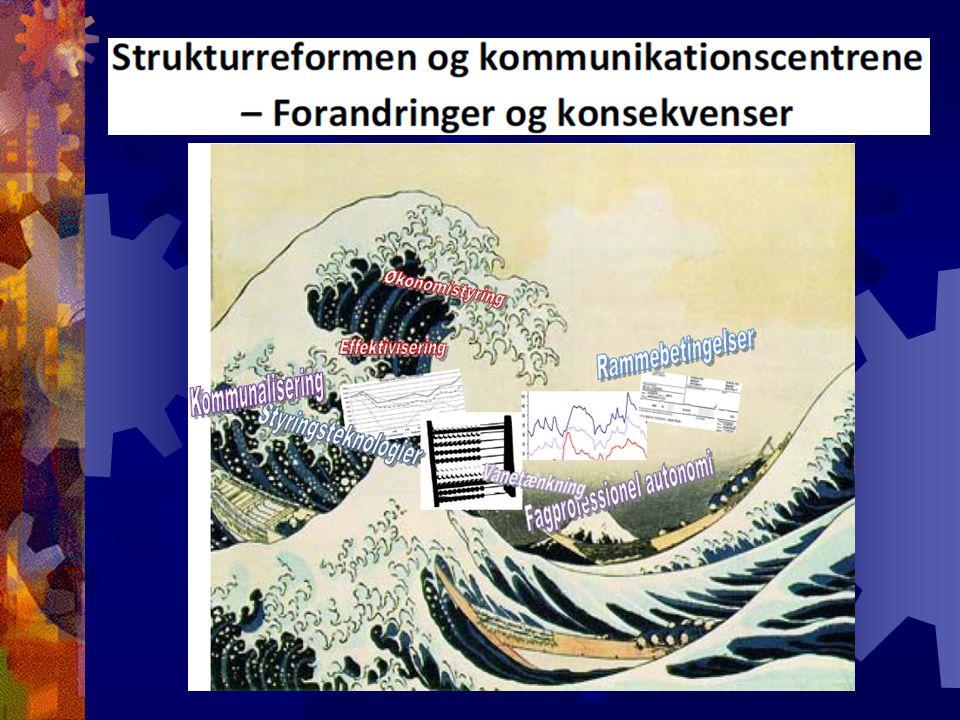 Strukturreformen og kommunikationscentrene – Forandringer og konsekvenser Af Per Nielsen & Agnete Selvejer Masterafhandling, MPA-uddannelsen, Copenhagen Business School, CBS, 2010