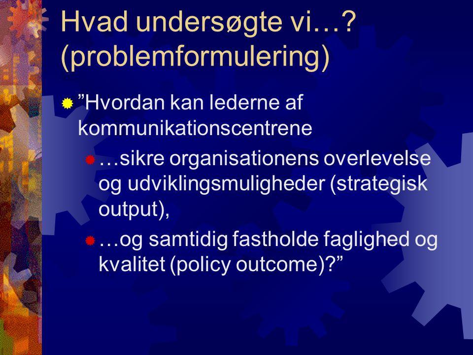 Operationalisering (4 underspørgsmål) 1.