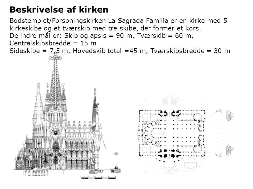Gennem de sidste femten år af sit liv planlagde Gaudi mange dele af kirken så de kunne blive bygget i fremtiden.