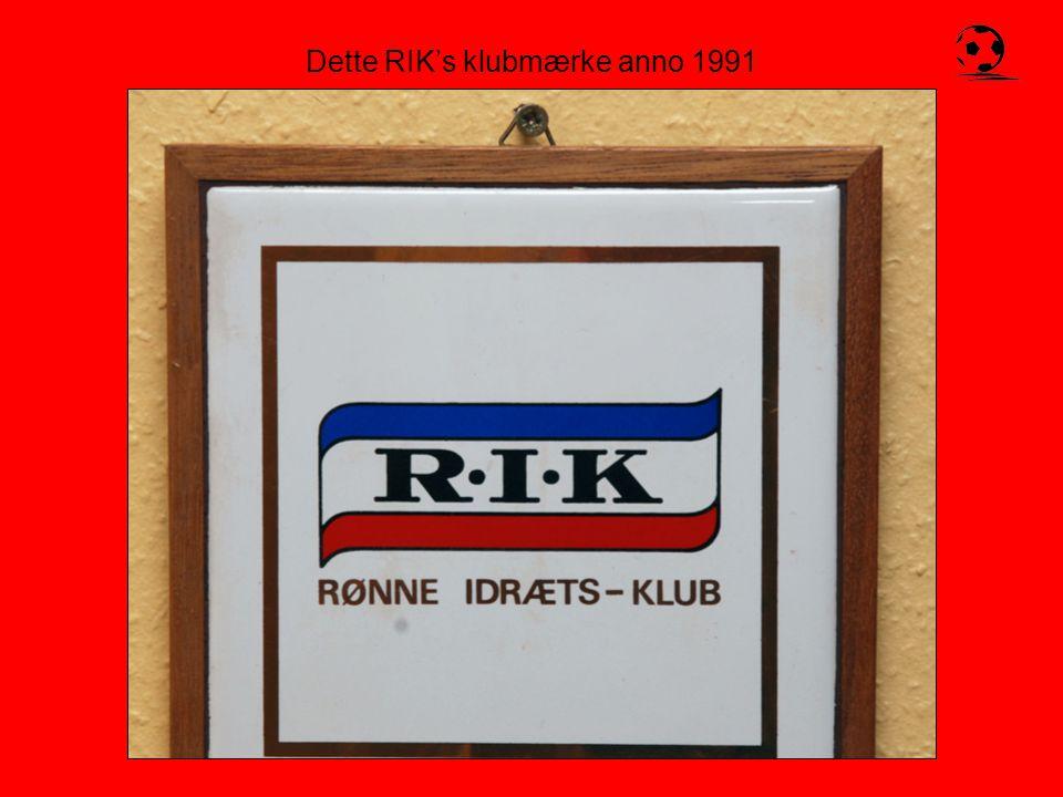 Dette RIK's klubmærke anno 1991