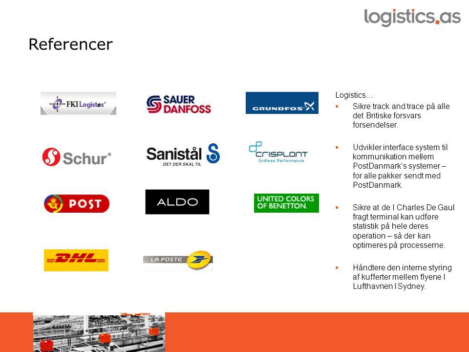 Referencer Logistics…  Sikre track and trace på alle det Britiske forsvars forsendelser.