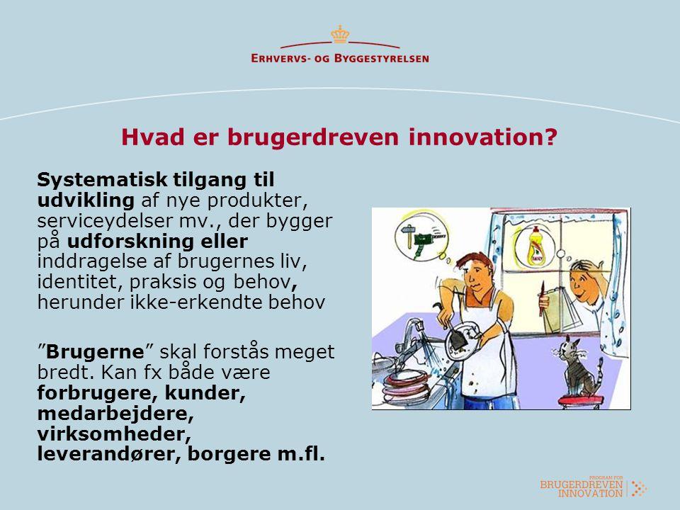 Hvad er brugerdreven innovation? Systematisk tilgang til udvikling af nye produkter, serviceydelser mv., der bygger på udforskning eller inddragelse a