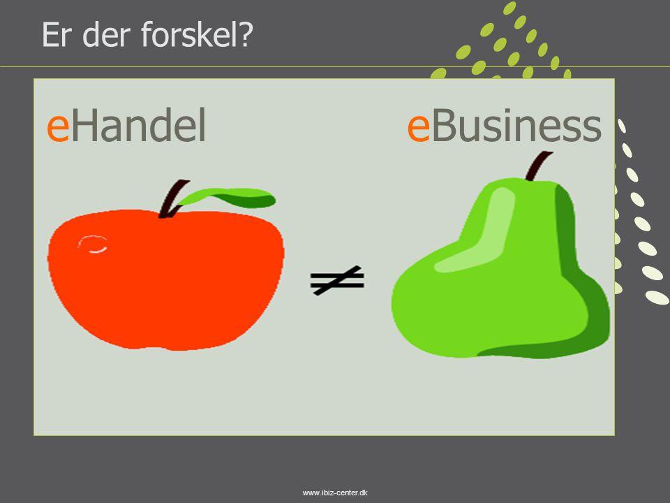 www.ibiz-center.dk Er der forskel? eHandeleBusiness
