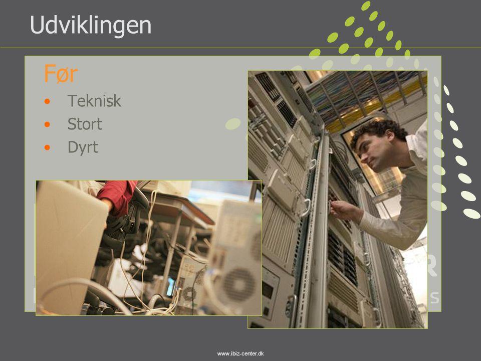 www.ibiz-center.dk Udviklingen Før •Teknisk •Stort •Dyrt