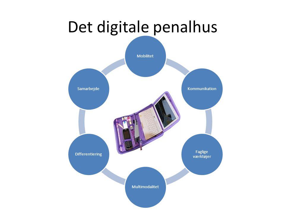 Det digitale penalhus IKT MobilitetKommunikation Faglige værktøjer MultimodalitetDifferentieringSamarbejde