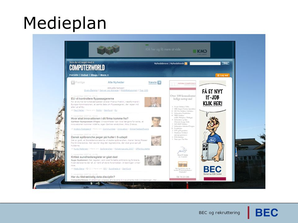 Medieplan BEC og rekruttering