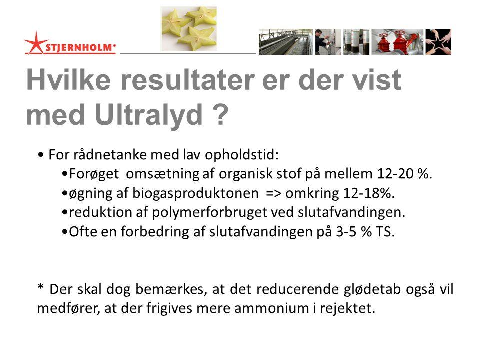 Hvilke resultater er der vist med Ultralyd .