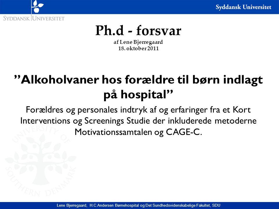 Ph.d - forsvar af Lene Bjerregaard 18.
