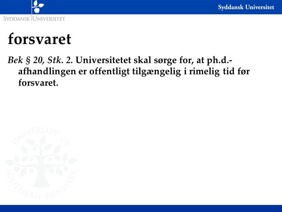 forsvaret Bek § 20, Stk.2.