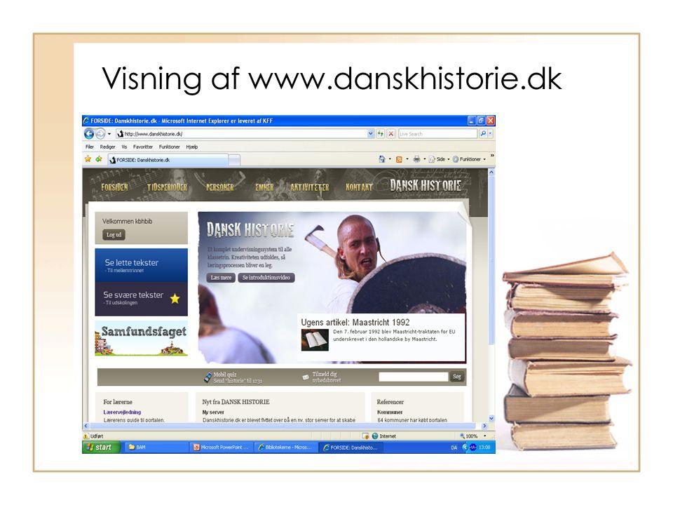 Visning af www.danskhistorie.dk