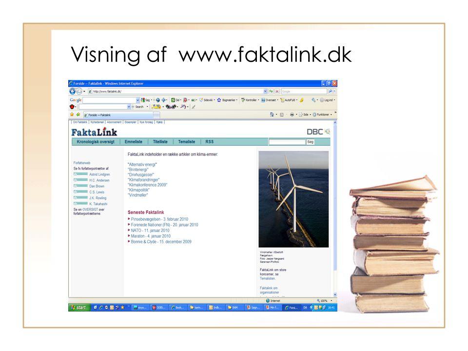 Visning af www.faktalink.dk