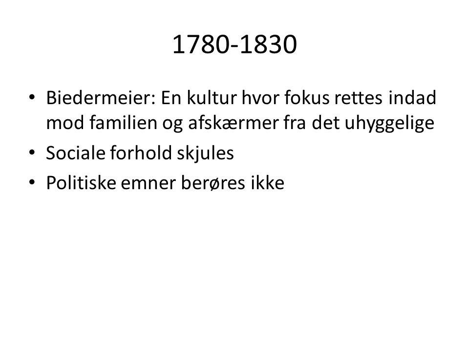 1830-1870 • Historiske forhold: • Frederik 6.dør 1839 – hjælper til friere forhold.