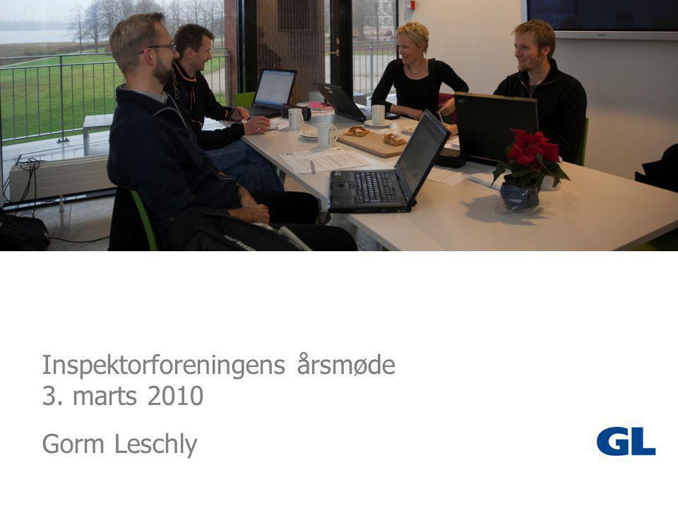 1 Inspektorforeningens årsmøde 3. marts 2010 Gorm Leschly