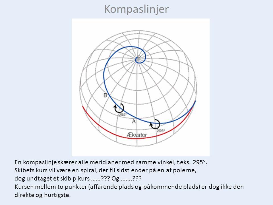 En storcirkel har sit centrum gennem jordens centrum, og dens cirkelbue følger jordens største omkreds (ca.