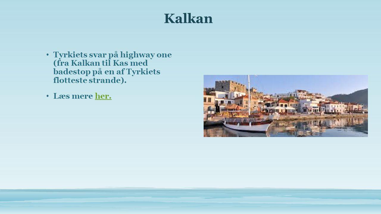 Kalkan • Tyrkiets svar på highway one (fra Kalkan til Kas med badestop på en af Tyrkiets flotteste strande).