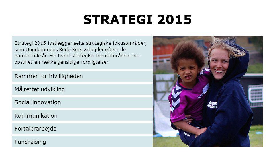 STRATEGI 2015 Strategi 2015 fastlægger seks strategiske fokusområder, som Ungdommens Røde Kors arbejder efter i de kommende år. For hvert strategisk f