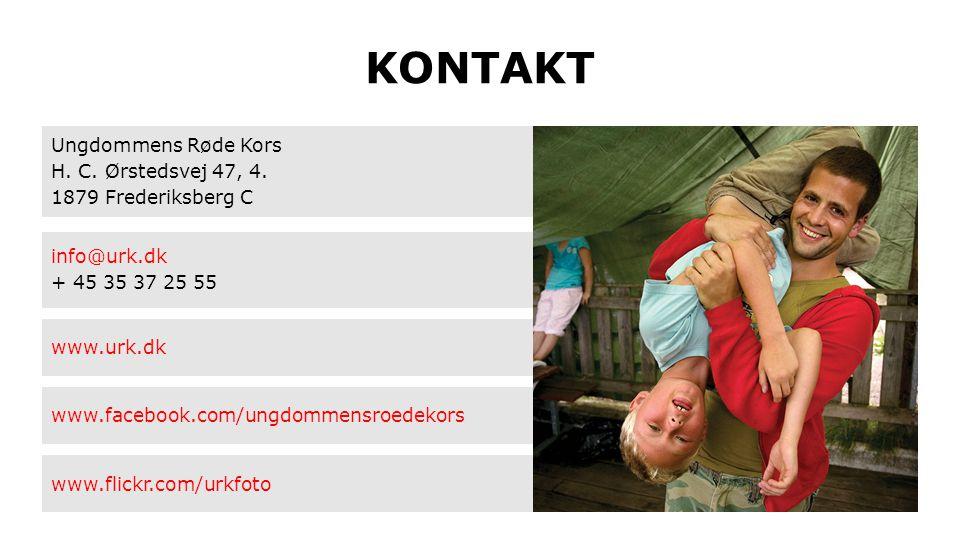 KONTAKT Ungdommens Røde Kors H. C. Ørstedsvej 47, 4. 1879 Frederiksberg C info@urk.dk + 45 35 37 25 55 www.urk.dk www.facebook.com/ungdommensroedekors