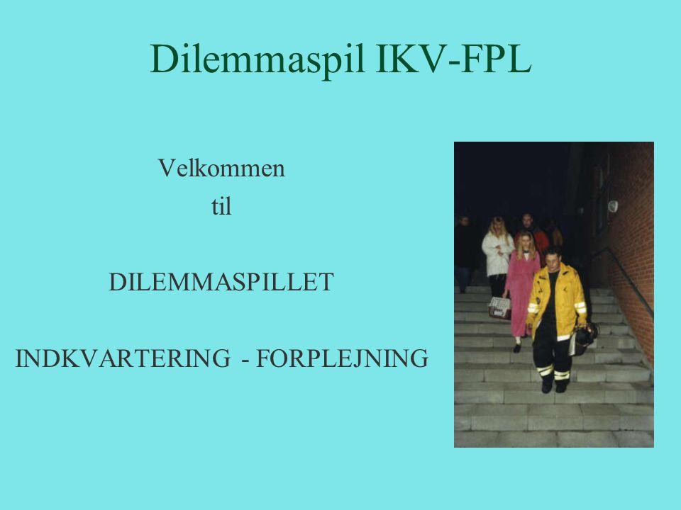 Dilemmaspil Formålet med dilemmaspillet er, at give deltageren viden om: • det tætte samarbejde med øvrige enheder/myndigheder i den samlede indsats • de mangfoldige opgaver, der kan forekomme i.f.m.