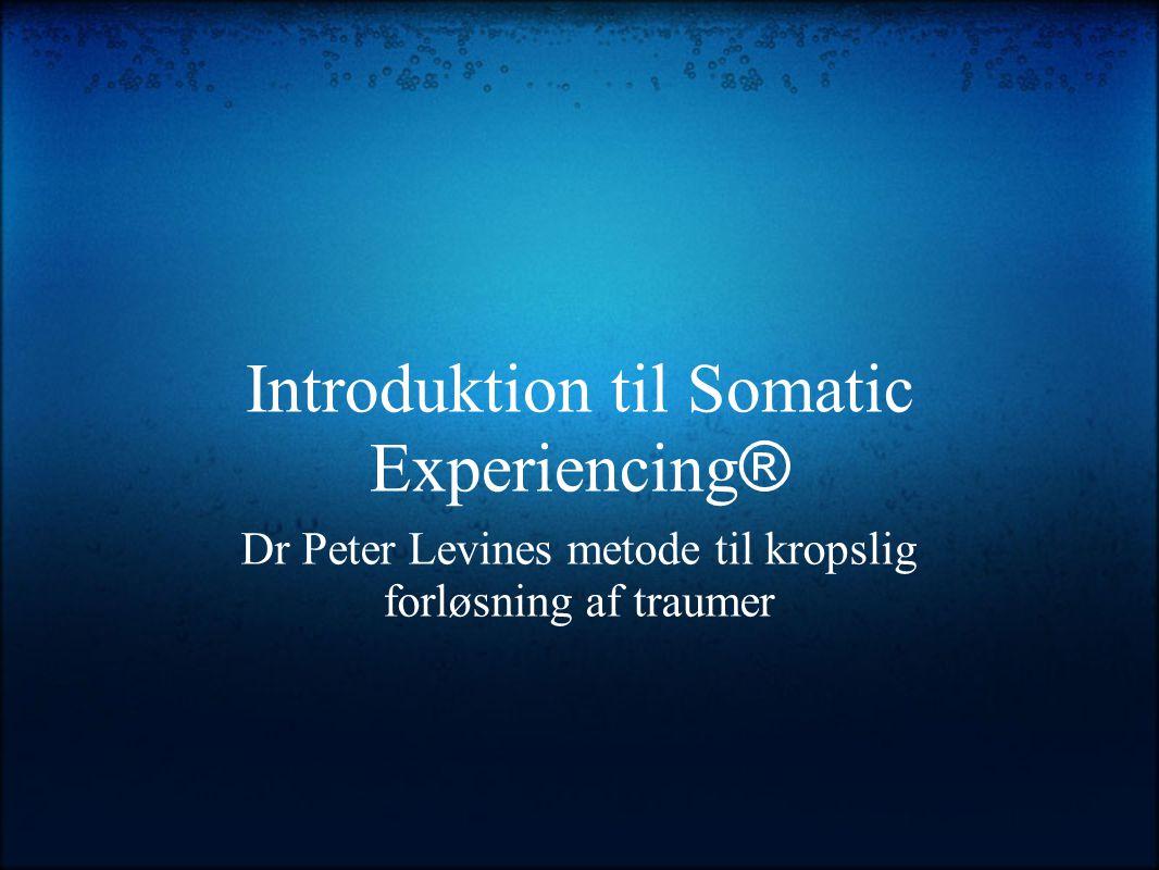 Introduktion til Somatic Experiencing ® Dr Peter Levines metode til kropslig forløsning af traumer