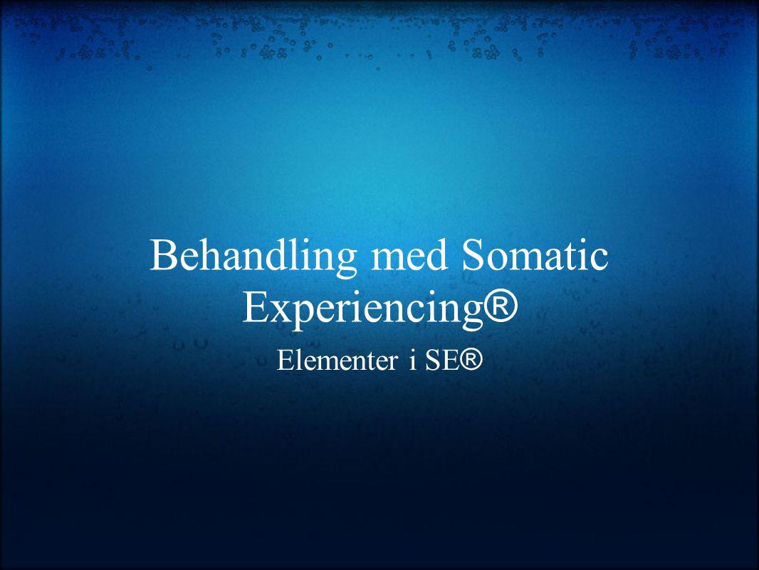 Behandling med Somatic Experiencing ® Elementer i SE ®