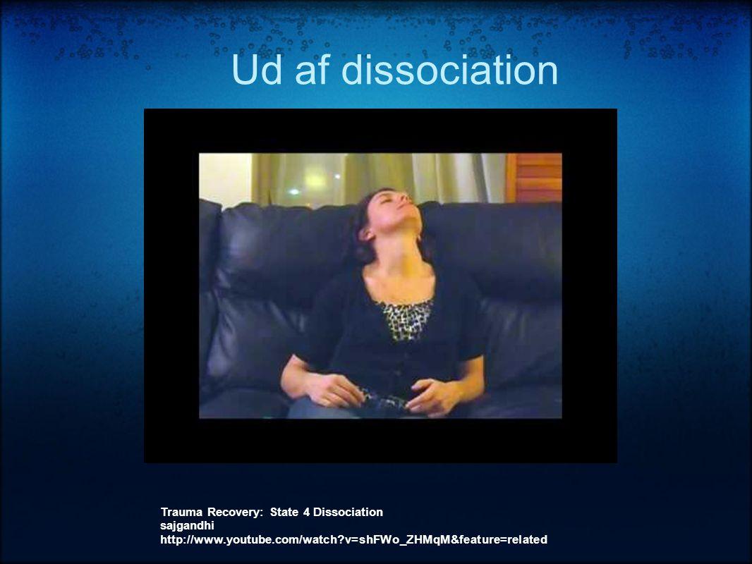 Ud af dissociation Trauma Recovery: State 4 Dissociation sajgandhi http://www.youtube.com/watch?v=shFWo_ZHMqM&feature=related