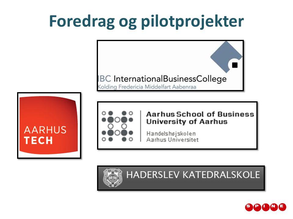Foredrag og pilotprojekter